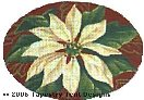 White Poinsettia Hand-Painted Needlepoint Canvas