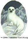 Harp Seal Hand-Painted Needlepoint Canvas