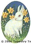 Bunny & Daffodils Hand-Painted Needlepoint Canvas