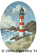 Lighthouse Hand-Painted Needlepoint Canvas