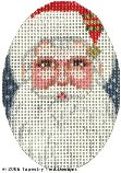 Red Santa Hand-Painted Needlepoint Canvas