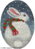 Rabbit & Snow Hand-Painted Needlepoint Canvas