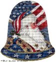 Patriotic Santa Hand-Painted Needlepoint Canvas