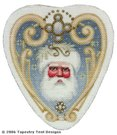 Golden Santa Ornament Hand-Painted Needlepoint Canvas