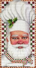Chef Santa Ornament Hand-Painted Needlepoint Canvas