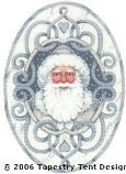 Arctic Santa Ornament Hand-Painted Needlepoint Canvas