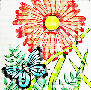 Daisy Mini - Hand Painted Needlepoint Canvas from Trubey Designs