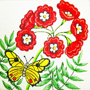 Primula Mini - Hand Painted Needlepoint Canvas from Trubey Designs