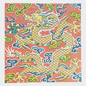 Golden Dragon Hand-painted Canvas