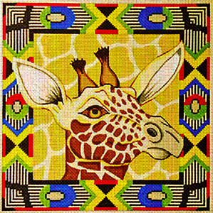 Giraffe with Border - Hand Painted Design from Trubey Designs