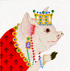 Jewelled Pig - Hand Painted Design from Trubey Designs