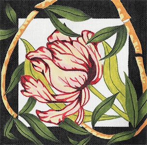 Tulip/Bamboo - Hand Painted Design from Trubey Designs