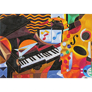Rhythem II Piano Concert hand painted canvas from Prince Duncan Williams