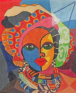 Ethnic Gallery: Lady I - Jasmine hand painted canvas from Prince Duncan Williams