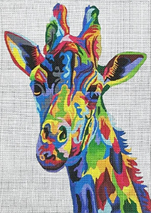 Giraffe from the Wildlife Gallery hand painted canvas from Prince Duncan Williams