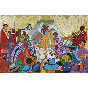 Jazz Band hand painted canvas from Prince Duncan Williams