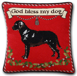 Black Lab on Red Cushion Kit