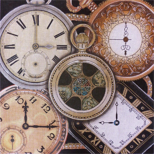 Gold Pocket Watch Collage