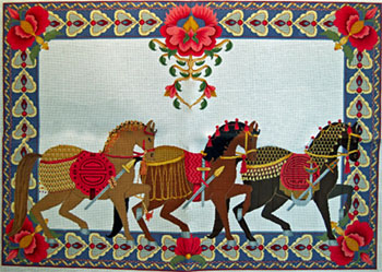 Horse Rug - Hand-Painted Needlepoint Rug Canvas