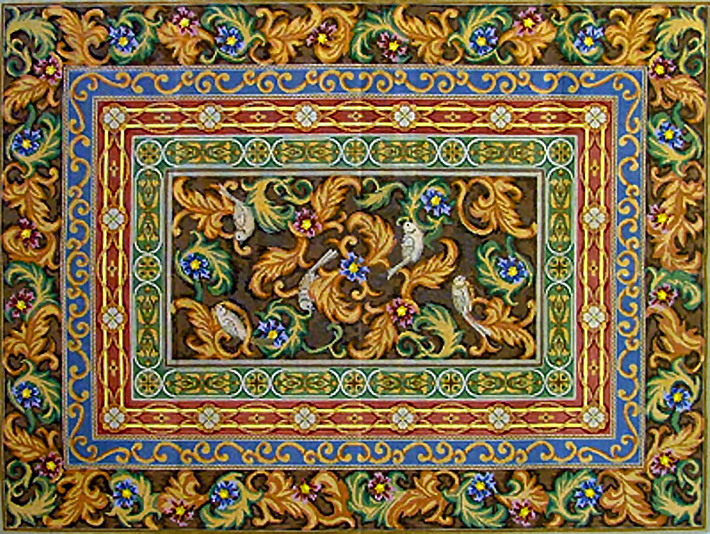 Needlepointus World Class Needlepoint Borders Rug