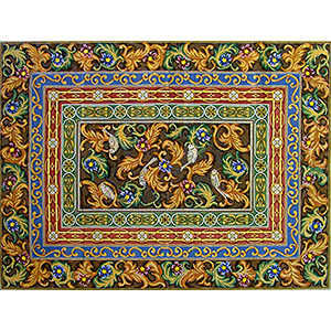 Borders Rug - Hand-Painted Needlepoint Rug Canvas