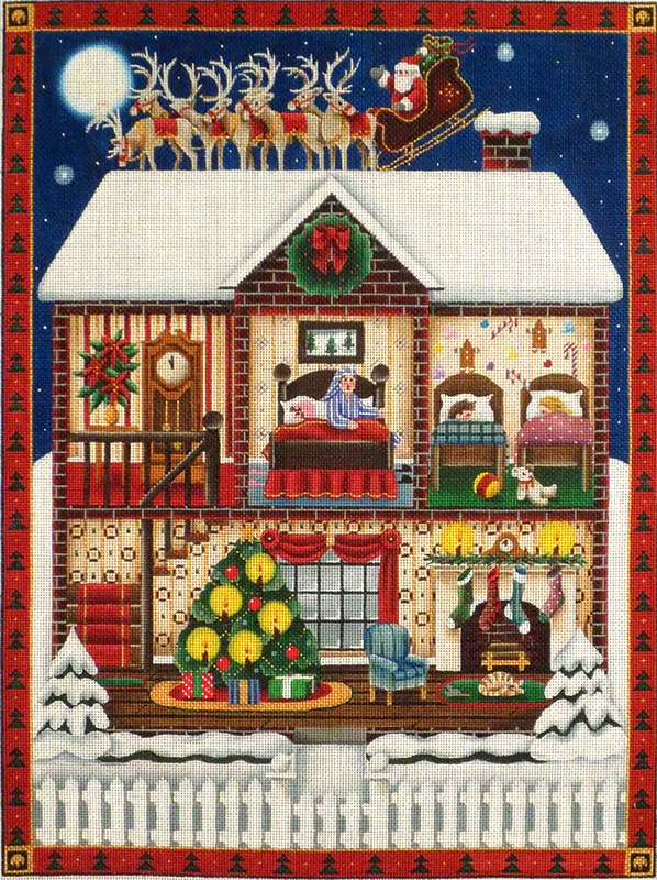 Night Before Christmas Hand Painted Canvas from Rebecca Wood
