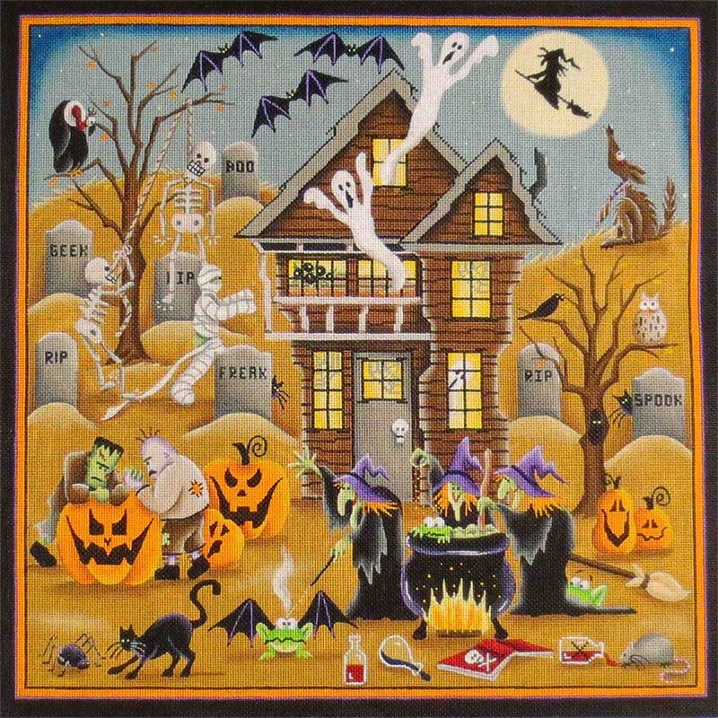 Spooksville Hand Painted Canvas from Rebecca Wood