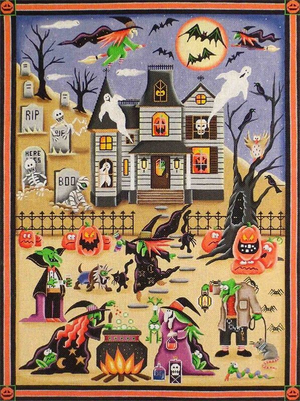 Scene of Fright Hand Painted Canvas from Rebecca Wood