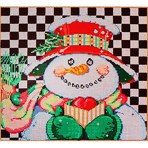 Spencer - Stitch Painted Needlepoint Canvas from Sandra Gilmore