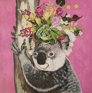 Judging Your Outfit Hand Painted Needlepoint Canvas