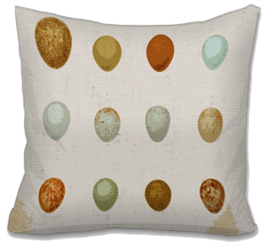 Naturalist Eggs Needlepoint Cushion Canvas or Kit