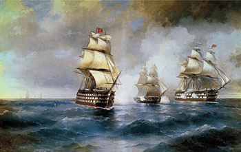 Brig Mercury Attacked by Two Turkish Ships, Ivan Aivazovsky