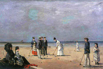 A Game of Croquet, Louise Abbema