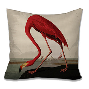 Flamingo Needlepoint Cushion Canvas or Kit