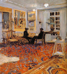Chat at the Fontaines, Edouard Vuillard
