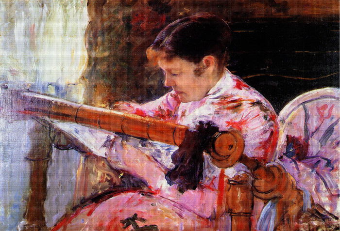Lydia At a Tapestry Frame, Mary Cassatt