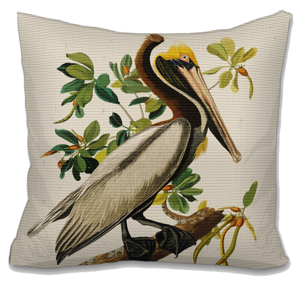 Pelican Needlepoint Cushion Canvas or Kit