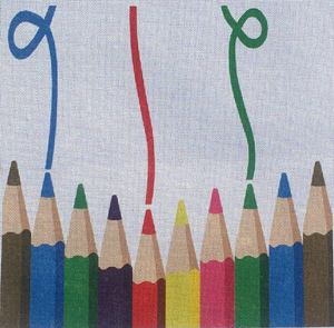 Pencil Art Needlepoint Cushion Canvas or Kit
