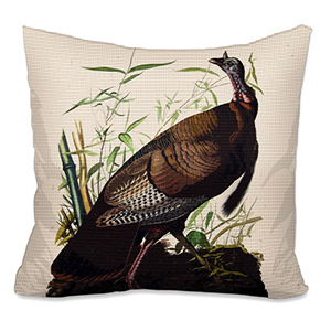 Wild Turkey Needlepoint Cushion Canvas or Kit