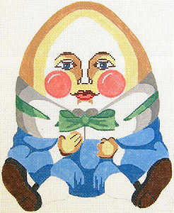 Humpty Dumpty Hand Painted Needlepoint Pillow Canvas