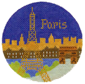 Paris Hand Painted Miniature Needlepoint Canvas