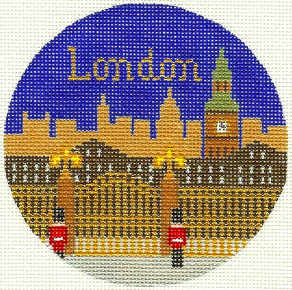 London Hand Painted Miniature Needlepoint Canvas