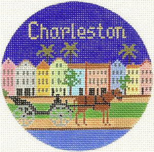 Charleston Hand Painted Miniature Needlepoint Canvas