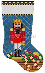 Susan Roberts Needlepoint Designs - Hand-painted Christmas Stocking - Prince Nutcracker Stocking