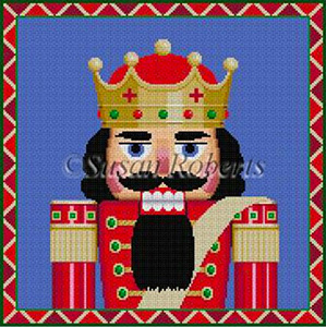 Susan Roberts Needlepoint Designs - Hand-painted Christmas Canvas - Nutcracker King