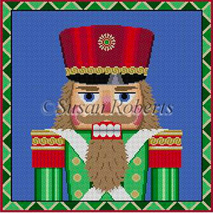 Susan Roberts Needlepoint Designs - Hand-painted Christmas Canvas - Green Guard