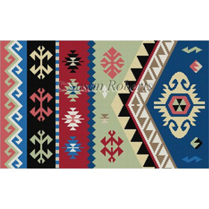 Susan Roberts Needlepoint Designs - Hand-painted Canvas -  Kilim III B
