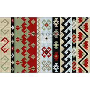 Susan Roberts Needlepoint Designs - Hand-painted Canvas -  Kilim I B