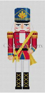 Susan Roberts Needlepoint Designs - Hand-painted Canvas - Trumpeter Nutcracker Miniature