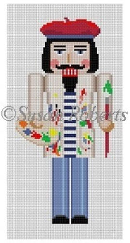 Susan Roberts Needlepoint Designs - Hand-painted Canvas - Nutcracker Artist